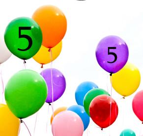 5år ballonger